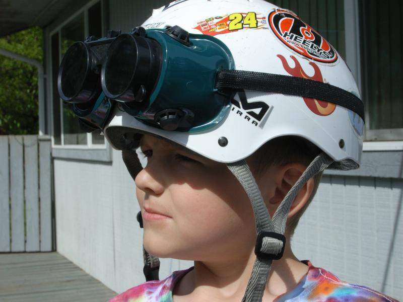 Kai with helmet and goggles