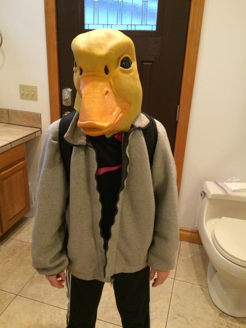 Kai's duck suit